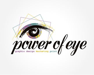 Power Of Eye Design Logo