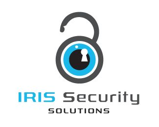 Iris Security Solutions eye inspired logo design