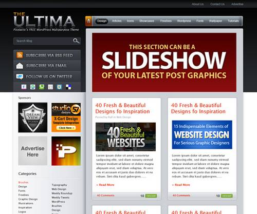 189 20 Brilliant  And Free PSD Website Templates
