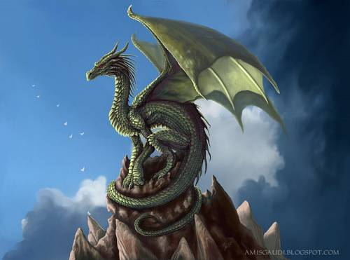 206 35 Awesome Examples Of Dragons Illustrations