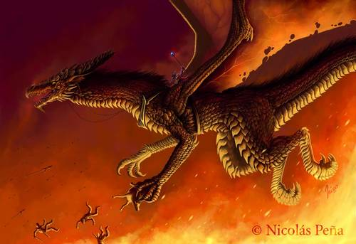 304 35 Awesome Examples Of Dragons Illustrations