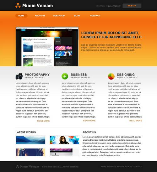 510 20 Brilliant  And Free PSD Website Templates