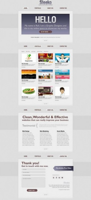 69 20 Brilliant  And Free PSD Website Templates