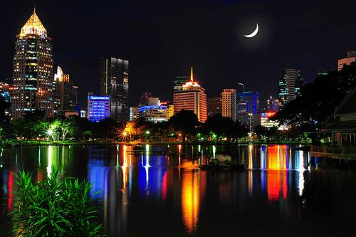 Lumpini Park Lights BY MikeBehnken
