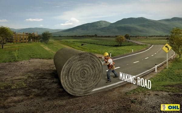 OHL Highway Concessions: Making Road Print Ad For Inspiration