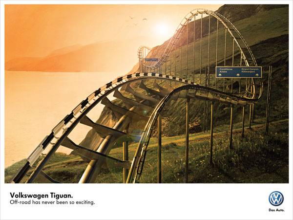 Volkswagen Tiguan. Off-road has never been so exciting Print Ad For Inspiration