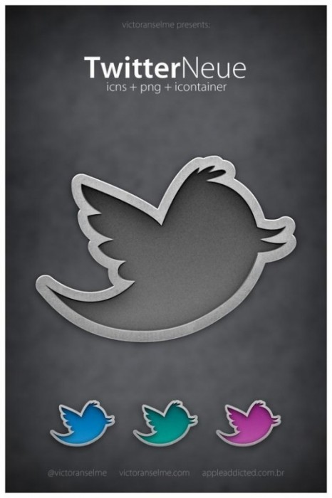 twitter iconset 10 30 Free And Useful Twitter Icon Sets