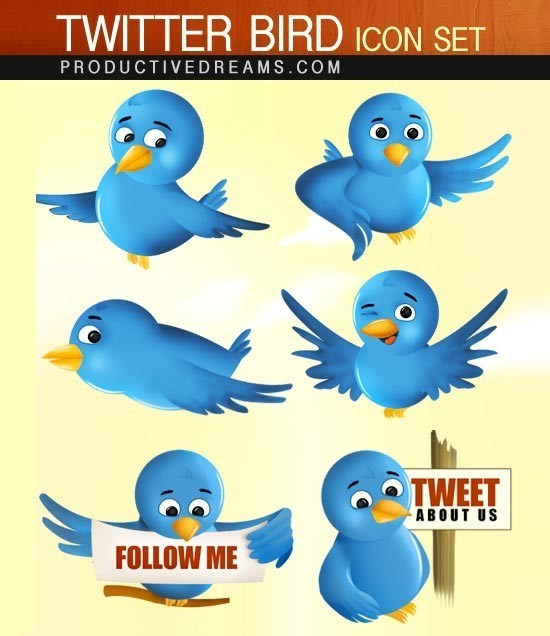 twitter iconset 11 30 Free And Useful Twitter Icon Sets