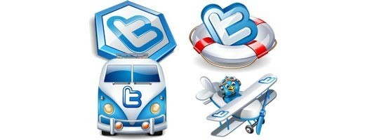 twitter iconset 12 30 Free And Useful Twitter Icon Sets
