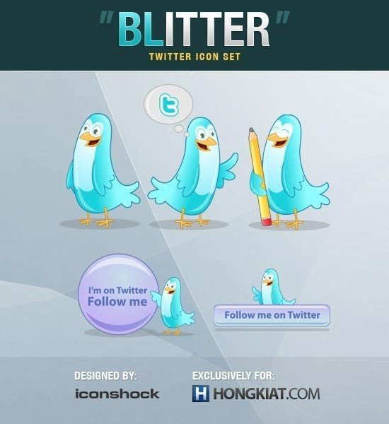 twitter iconset 13 30 Free And Useful Twitter Icon Sets