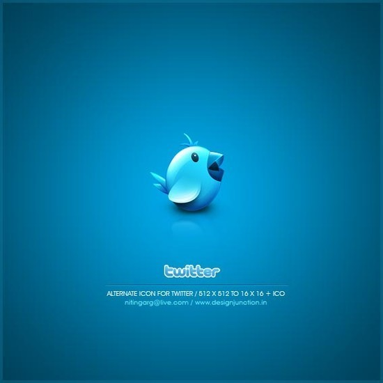 twitter iconset 14 30 Free And Useful Twitter Icon Sets