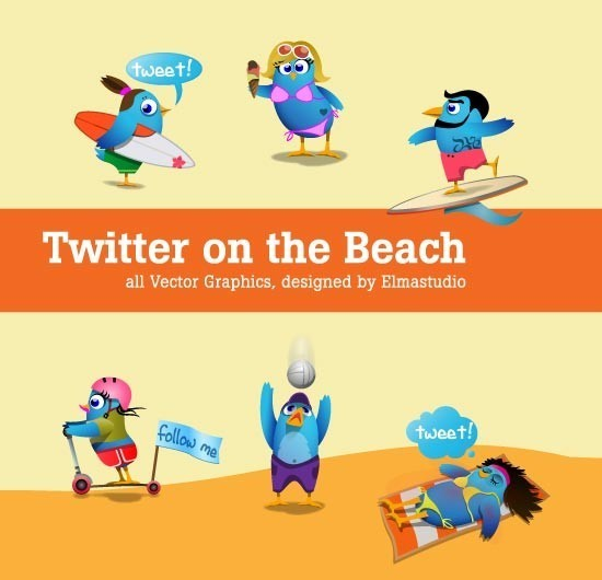 twitter iconset 15 30 Free And Useful Twitter Icon Sets