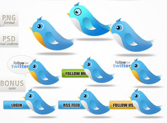 twitter iconset 18 30 Free And Useful Twitter Icon Sets