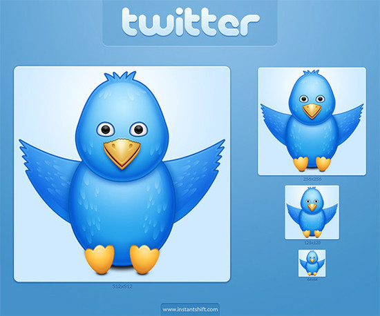 twitter iconset 19 30 Free And Useful Twitter Icon Sets