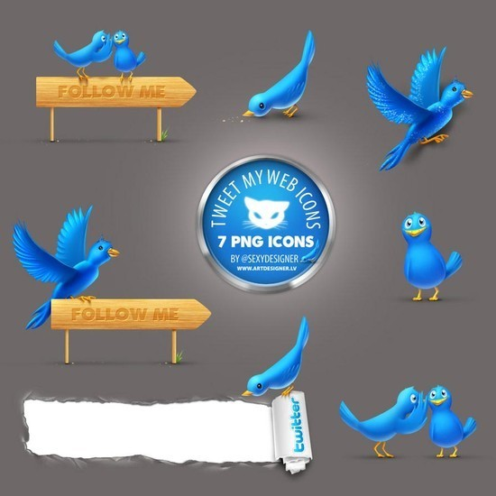 twitter iconset 2 30 Free And Useful Twitter Icon Sets