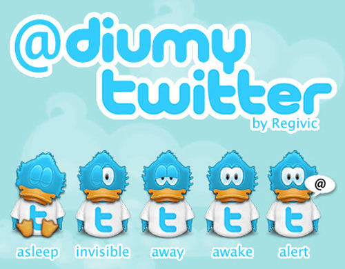 twitter iconset 20 30 Free And Useful Twitter Icon Sets