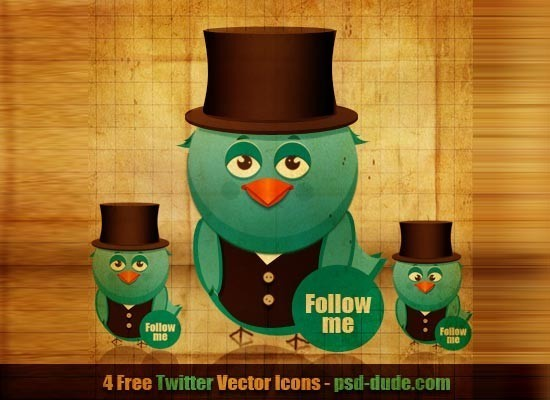 twitter iconset 5 30 Free And Useful Twitter Icon Sets