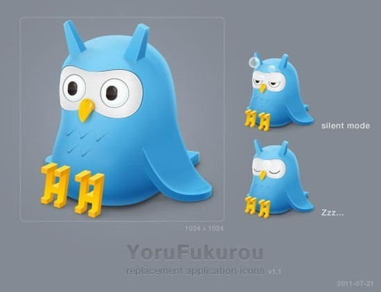 twitter iconset 7 30 Free And Useful Twitter Icon Sets