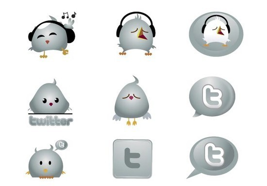 twitter iconset 8 30 Free And Useful Twitter Icon Sets