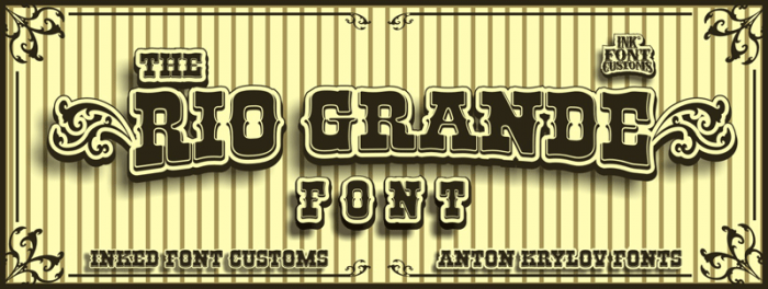 30 Free Western Fonts Collection