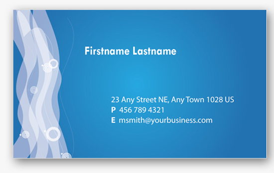 4 Blue Personal Business Cards Templates free business card template