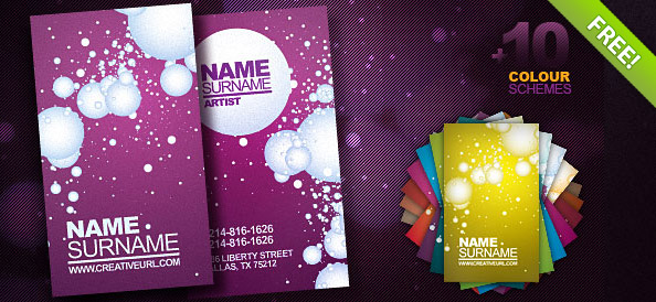 Free PSD Business Card Template free business card template