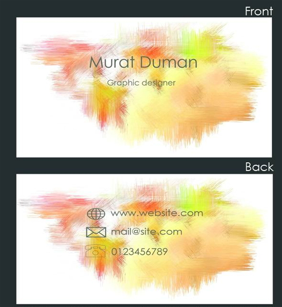 Free Colored Business Card PSD free business card template