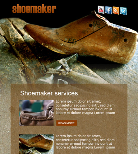 Shoemaker - free facebook template