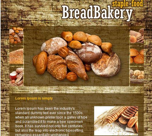 BreadBakery free facebook template