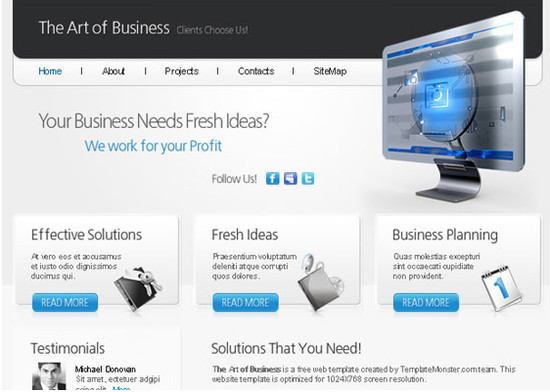 Art of Business - HTML5 And CSS3 Templates