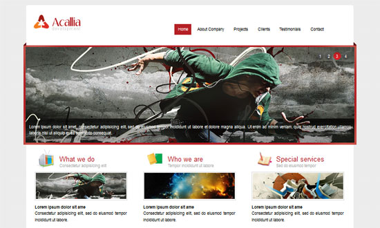 Acallian HTML5 and CSS3 Templates Free - HTML5 And CSS3 Templates