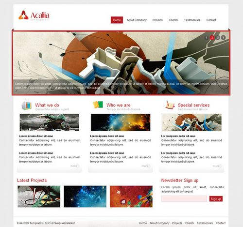 Acallia - HTML5 And CSS3 Templates