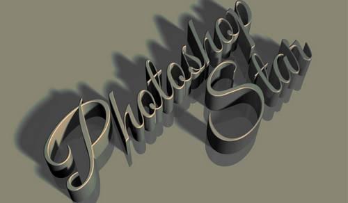 Vintage 3D Text Effect in Photoshop CS6