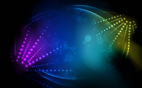 abstract lights rainbows bokeh - Wallpaper