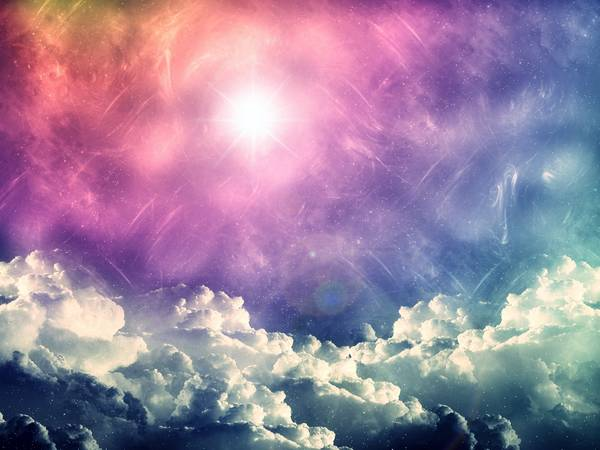 clouds lights multicolor Vanilla Sky skyscapes - Wallpaper