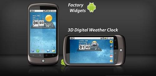 3D Digital Weather Clock