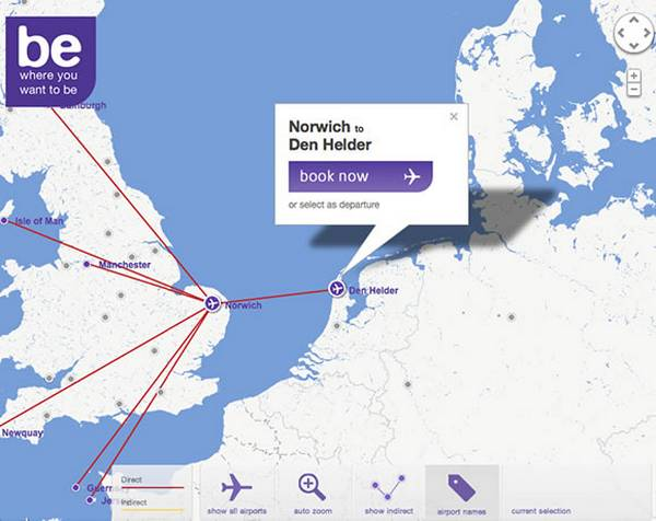 Flybe Route Map