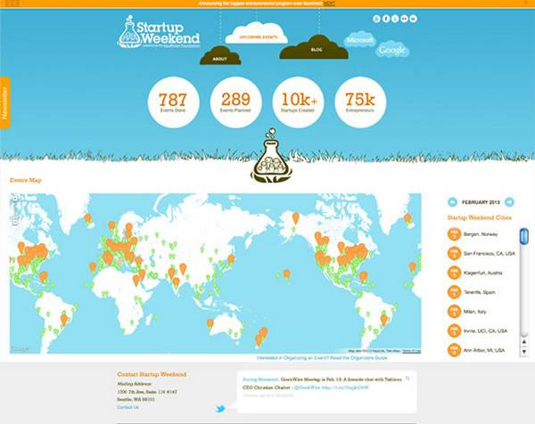 Using maps in web design 25 amazing examples startup weekend gumiabroncs Images