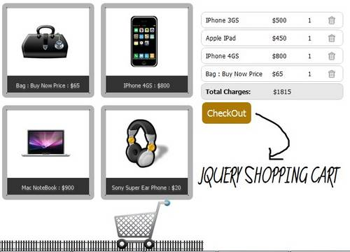 Create a Stylish Shopping Cart Using JQuery and PHP