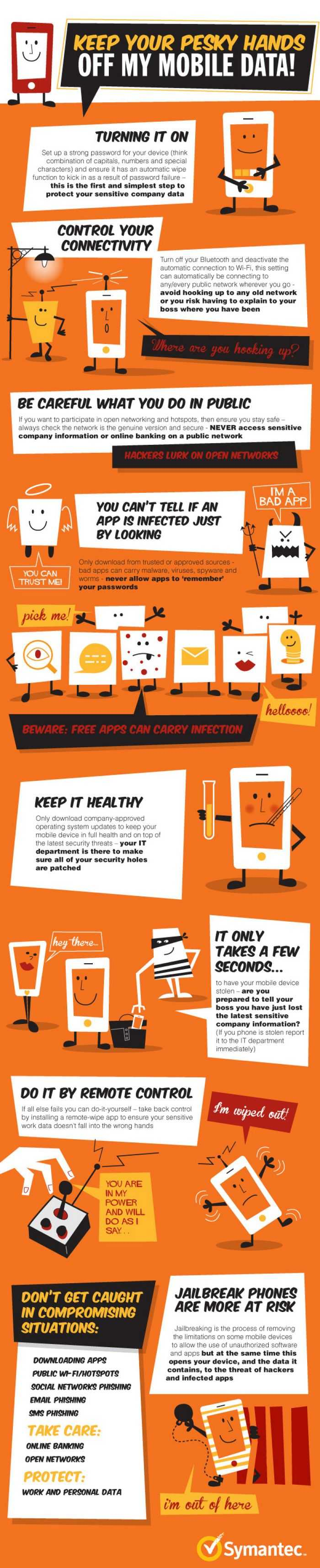How To Keep Your Smartphone Safe & Secure Infographic