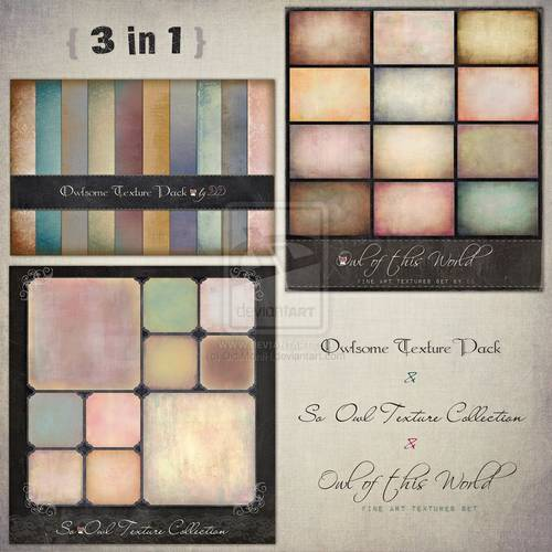 Digital Textures Paper Pack 3 in 1 - 32 HQ Resolut