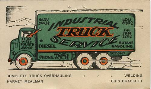 Truck business card