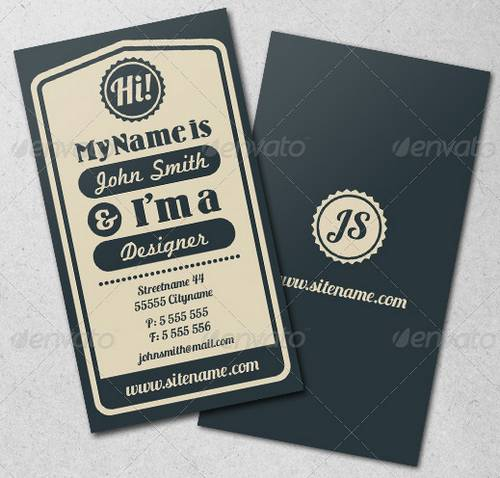Vintage Typographic Business Card