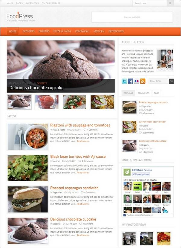 FoodPress – A Recipe & Food Blog WordPress Theme