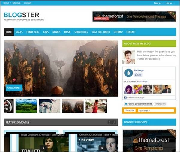 Blogster – Responsive Blog WordPress Theme