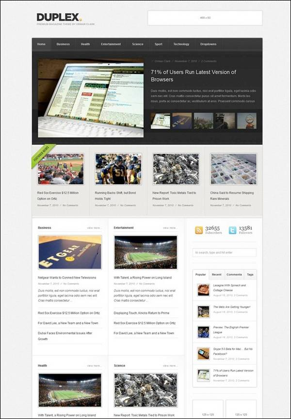 Duplex – Magazine / Blog Theme