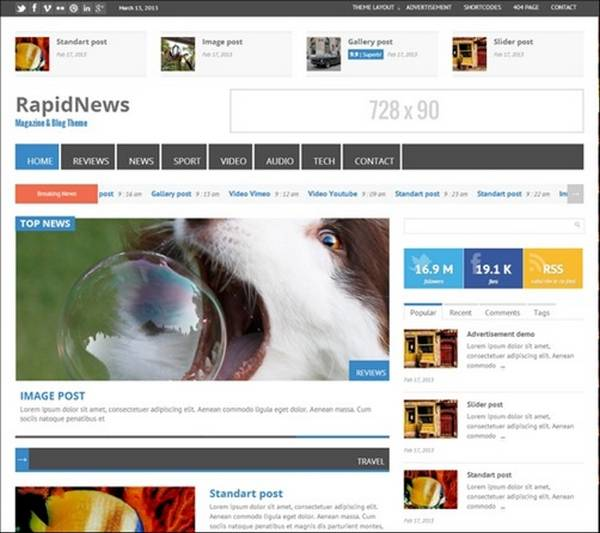 RapidNews – Responsive Magazine Theme