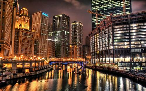cityscapes  night  lights