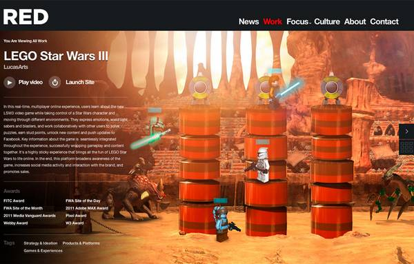 HTML5 websites : RED Interactive Agency Website