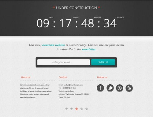 "Create a Bold ""Under Construction"" Page"